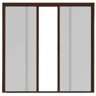 72 in. x 84 in. VS1 Brownstone Retractable Screen Door, Double Cassette