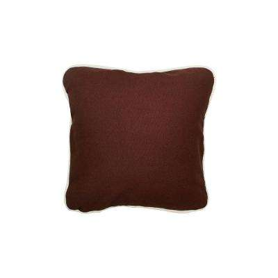 12 in. x 12 in. Brown  Standard Pillow with Green Eco Friendly Insert