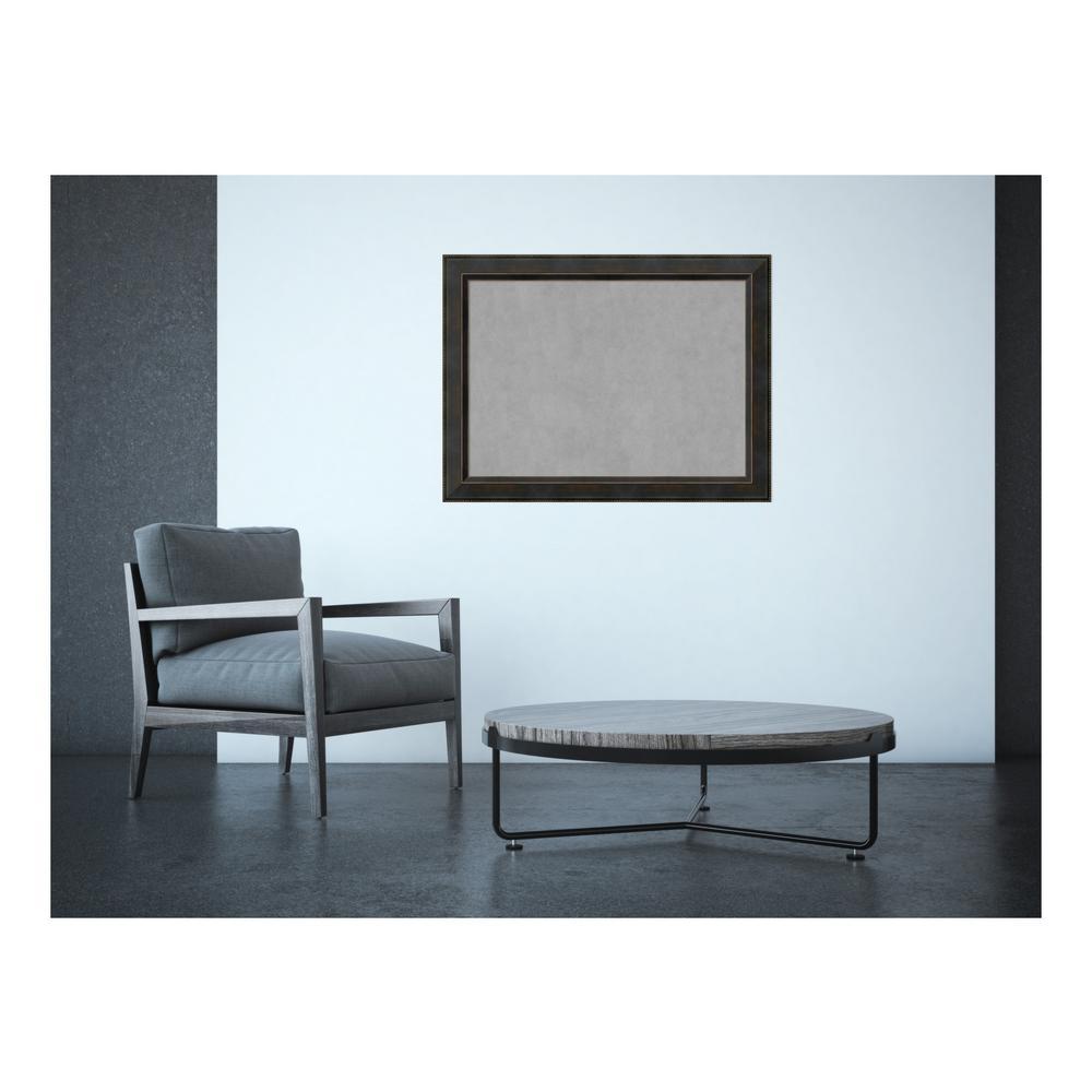 Signore Bronze Wood 33 in. x 25 in. Framed Magnetic Memo Board