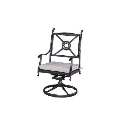 Athens Charcoal Patio Chair with Gray Cushion