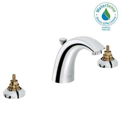Arden 8 in. Widespread 2-Handle 1.2 GPM Bathroom Faucet in StarLight Chrome (Handles Sold Separately)