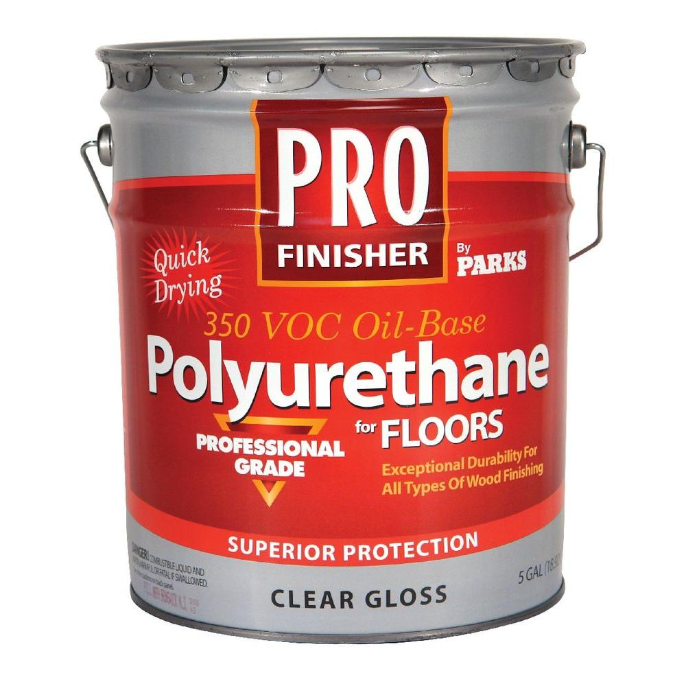 Rust-Oleum Parks Pro Finisher 5 gal. Clear Gloss 350 VOC Oil-Based Interior Polyurethane for Floors