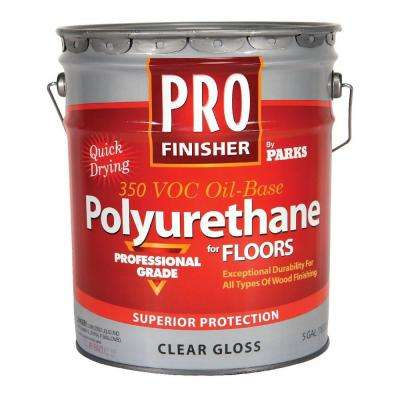 5-gal. Clear Gloss 350 VOC Oil-Based Interior Polyurethane for Floors