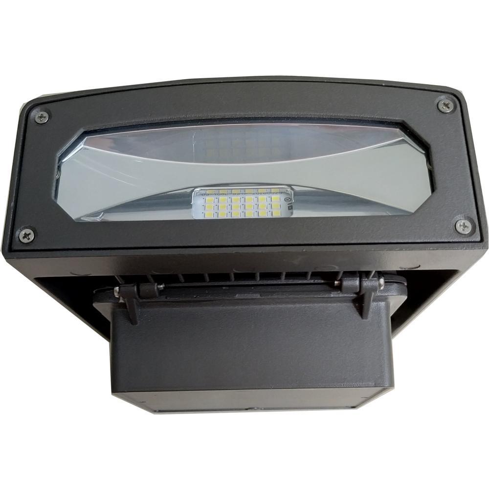 50-Watt Integrated LED Bronze Wall Pack Light, 4100K