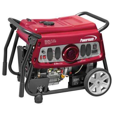 7500-Watt Dual Fuel Electric Start Powered Portable Generator with OHV engine, 49-state/CSA compliant