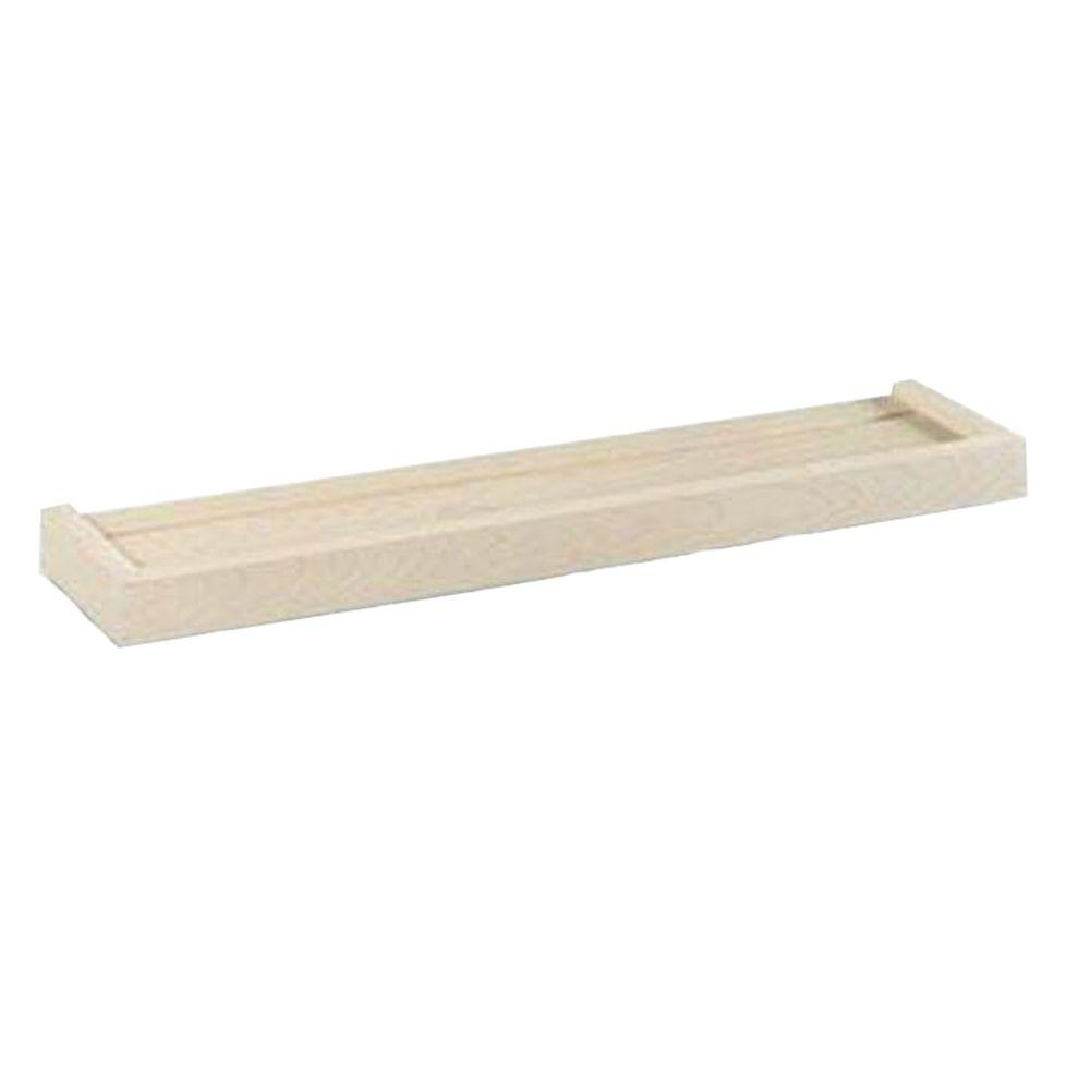 12 in. x 6 in. Unfinished Euro Floating Wall Shelf
