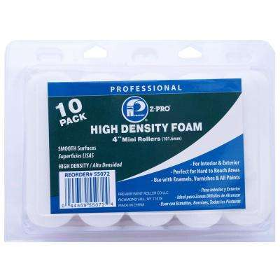 4 in. High Density Foam Mini Roller (20-Pack) (10-Piece)