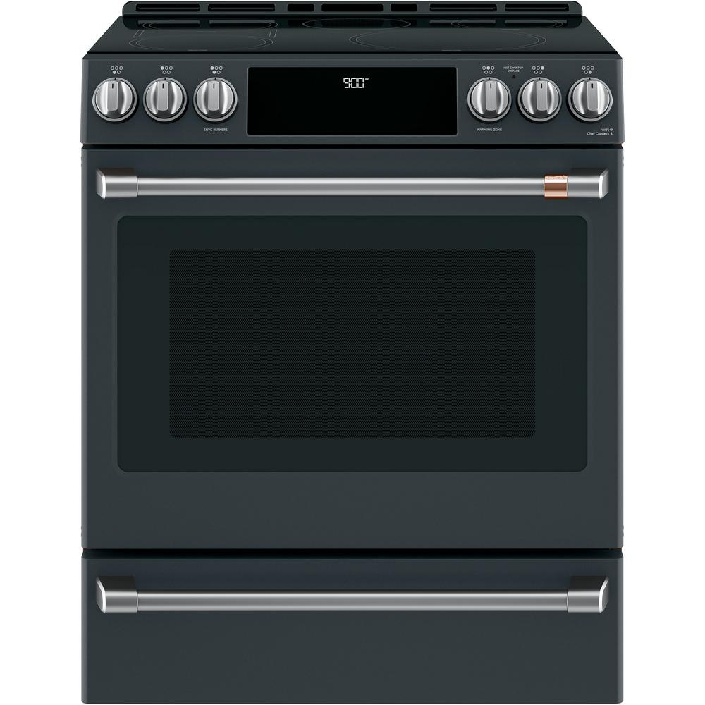 30 in. 5.7 cu. ft. Slide-In Induction Range with Steam-Cleaning, Convection
