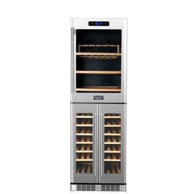 121-Bottle Triple Zone Wine Cooler Built-In with Compressor in Stainless Steel