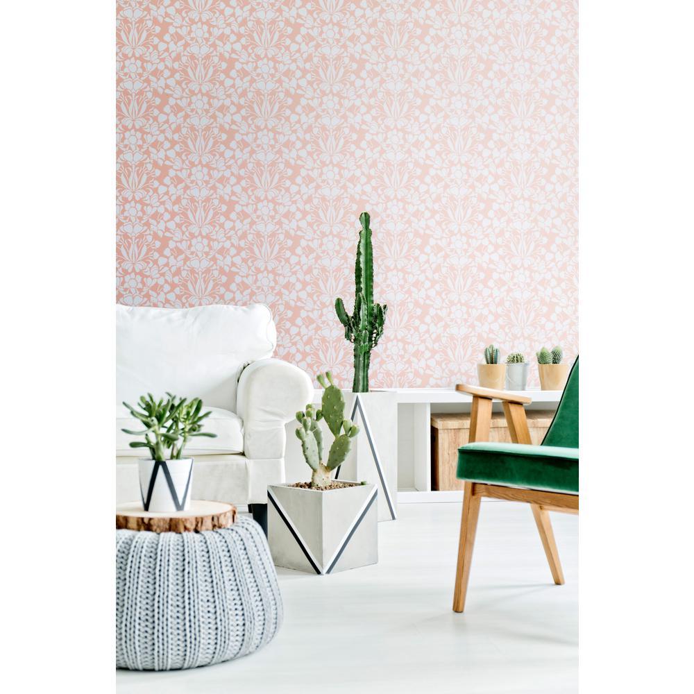 Nomad Collection Sanpdragon in Bleached Coral Premium Matte Wallpaper