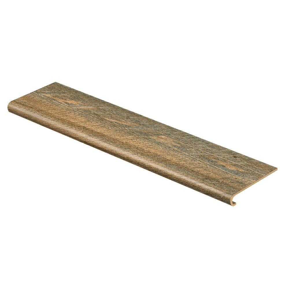 Cap A Tread Rustic Hickory 47 in. Long x 12-1/8 in. Deep x 1-11/16 in. Height Vinyl to Cover Stairs 1 in. Thick