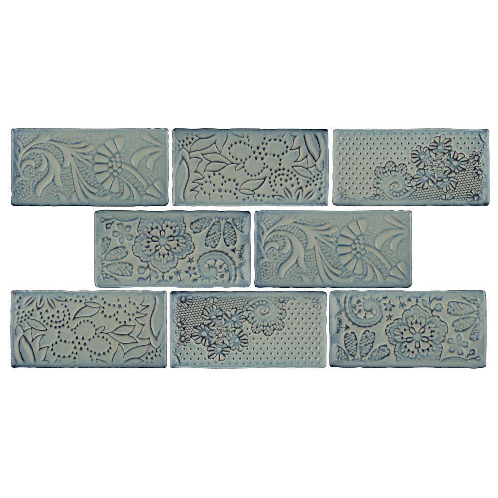 Merola Tile Antic Feelings Griggio 3 in. x 6 in. Ceramic Subway Wall Tile (1 sq. ft. / pack), Griggio / Medium Sheen was $21.51 now $13.57 (37.0% off)
