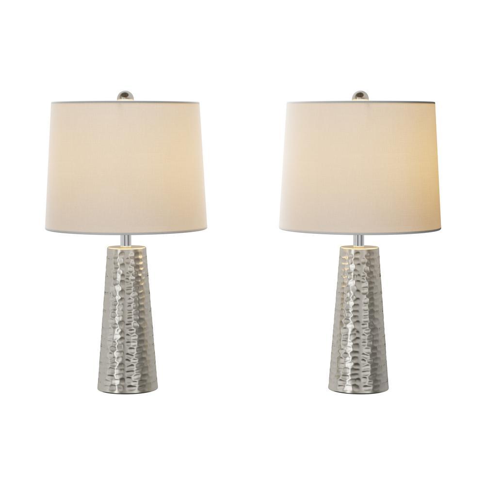 26 Lavish 2 LampsSet of Table Home inHammered Metal Ybg7yvf6