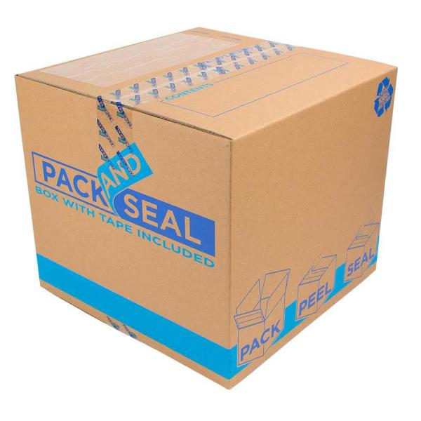 Pack and Seal Medium Moving Box (18 in. L x 18 in. W x 16 in. D)