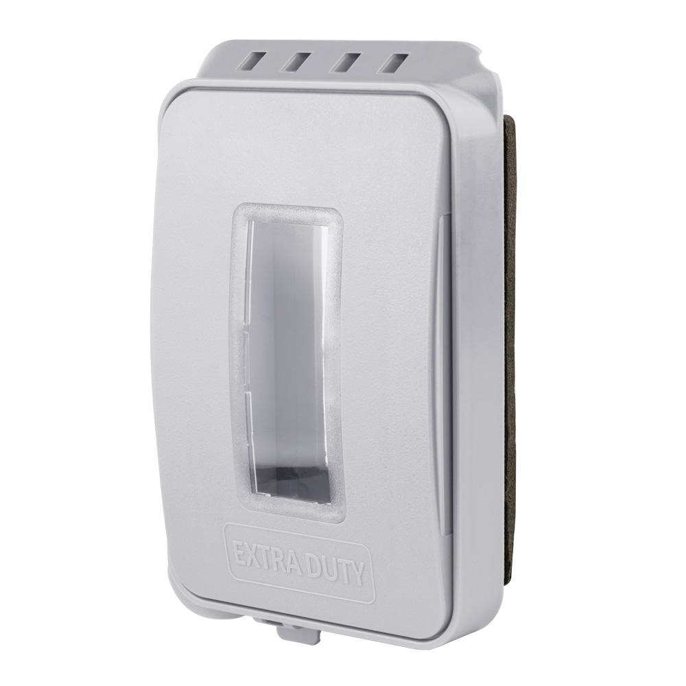 Commercial Electric White 1 Gang Extra Duty Non Metallic Low Profile