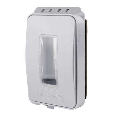 White 1-Gang Extra Duty Non-Metallic Low Profile While-In-Use Weatherproof Horizontal/Vertical Receptacle Cover
