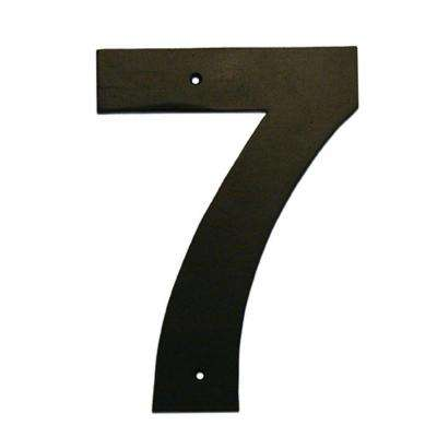 6 in. Helvetica House Number 7