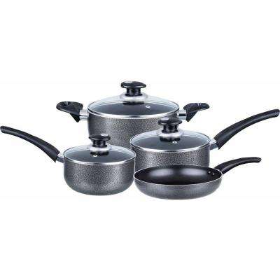 7-Piece Granite Cookware Set with Lids