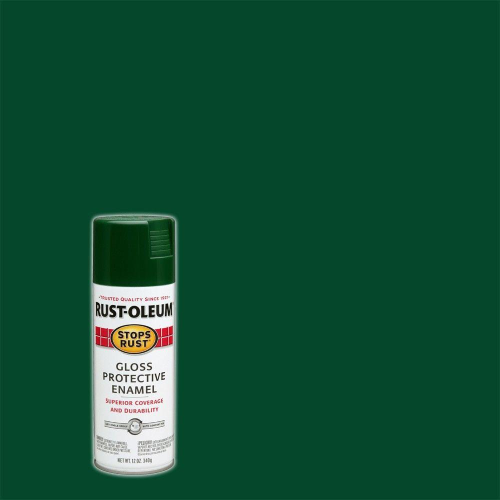 12 oz. Protective Enamel Gloss Hunter Green Spray Paint