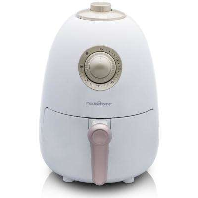 2.1 Qt. Compact Electric Air Fryer with Color Recipe Book - Clean White