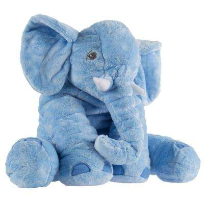 Blue Plush Stuffed Elephant