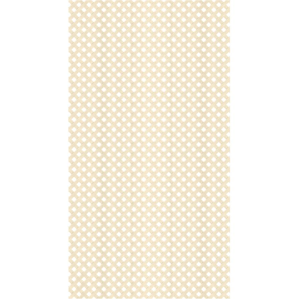 Veranda 4 ft. x 8 ft. Almond Privacy Vinyl Lattice