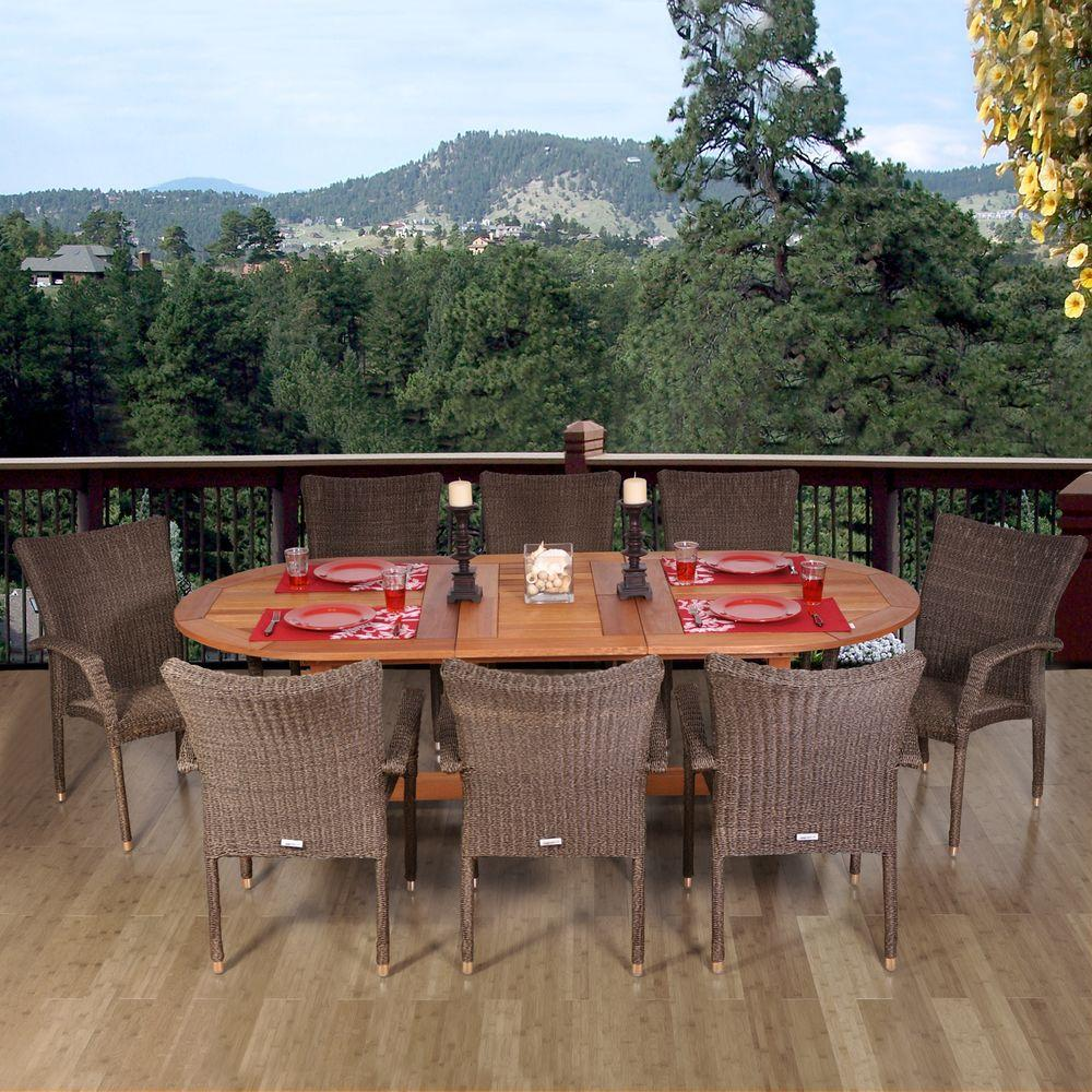 Neo Renaissance 9 Piece Traditional Dining: Amazonia Renaissance 9-Piece Patio Dining Set-RENNAISSANCE