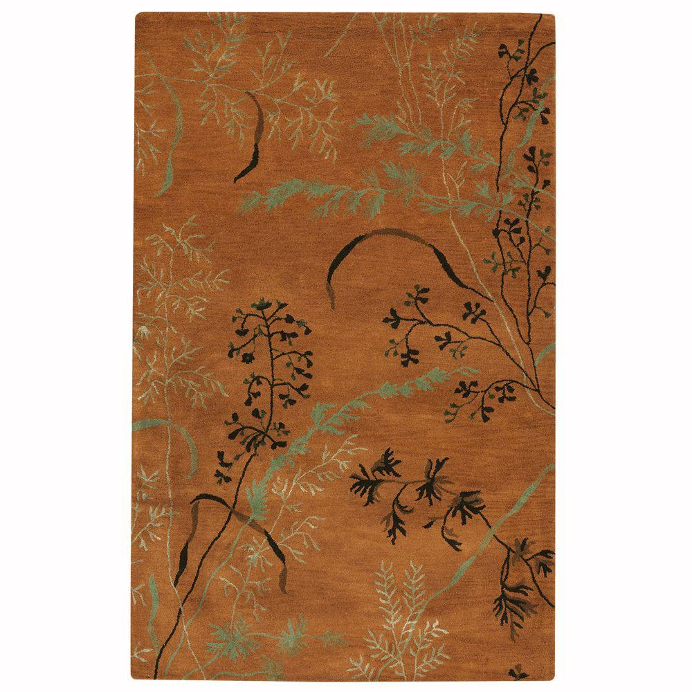 Home Decorators Collection Pacific Terra Cotta 3 ft. 6 in. x 5 ft. 6 in. Area Rug