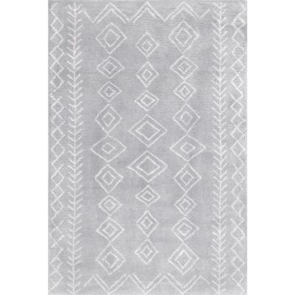 Lauren Moroccan Modern Gray 5 ft. x 8 ft.  Area Rug
