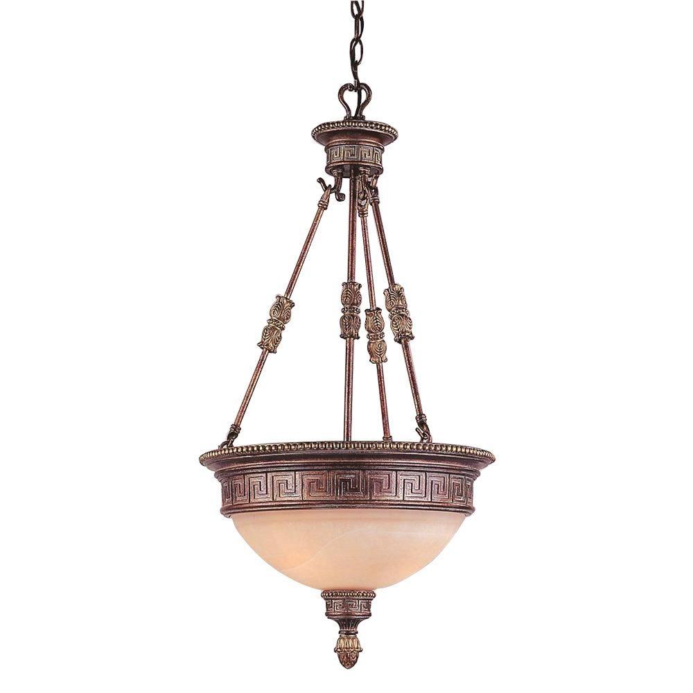 Bel Air Lighting Stewart 3-Light Lincoln Copper Pendant