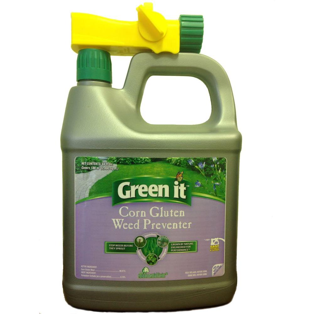 Green It 64 oz. Ready-to-Spray Liquid Corn Gluten Weed Preventer