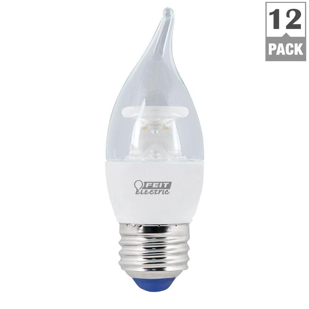 FEIT 40W Equivalent Warm White (3000K) CA10 Dimmable LED ...