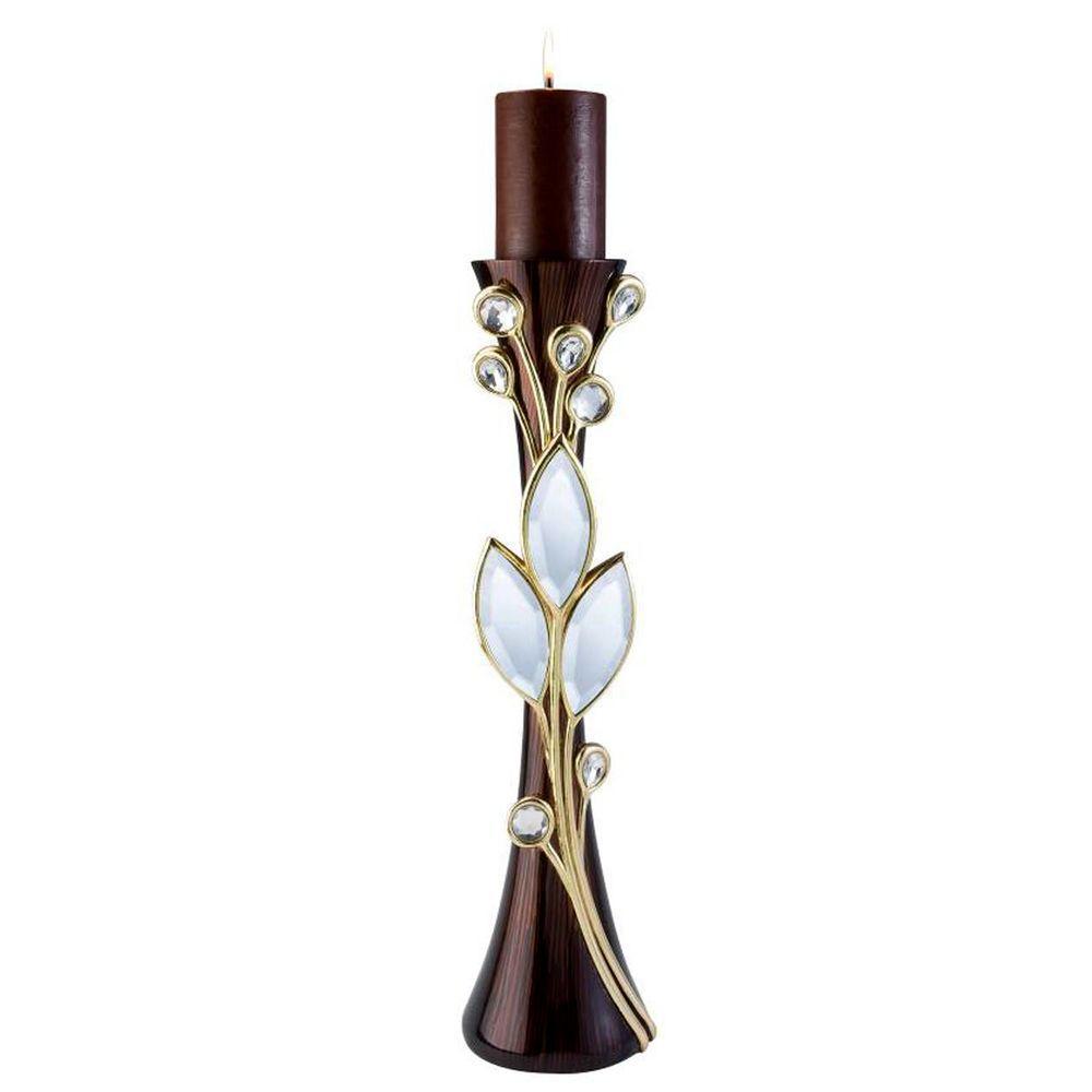22 in. Laurel Topaz Candle Holder