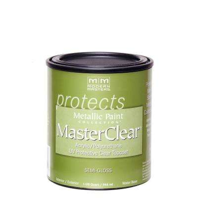 MasterClear 1 qt. Semi-Gloss Clear Water-Based Interior/Exterior Protective Topcoat