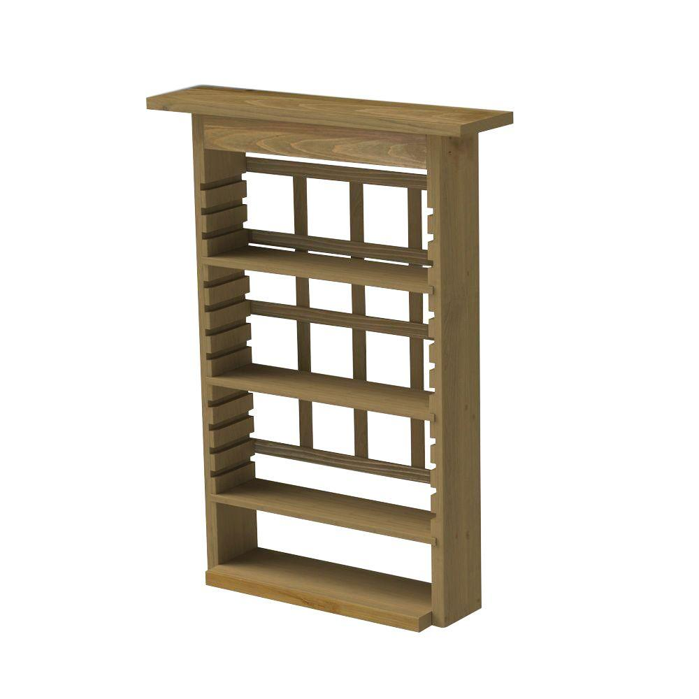 Algreen 32.75 In. Wood GardenView Planter With 3 Shelves