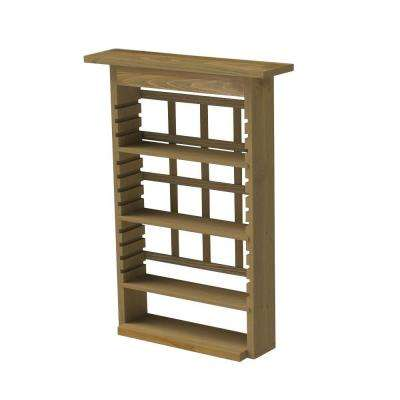 32.75 in. Wood GardenView Planter with 3 Shelves