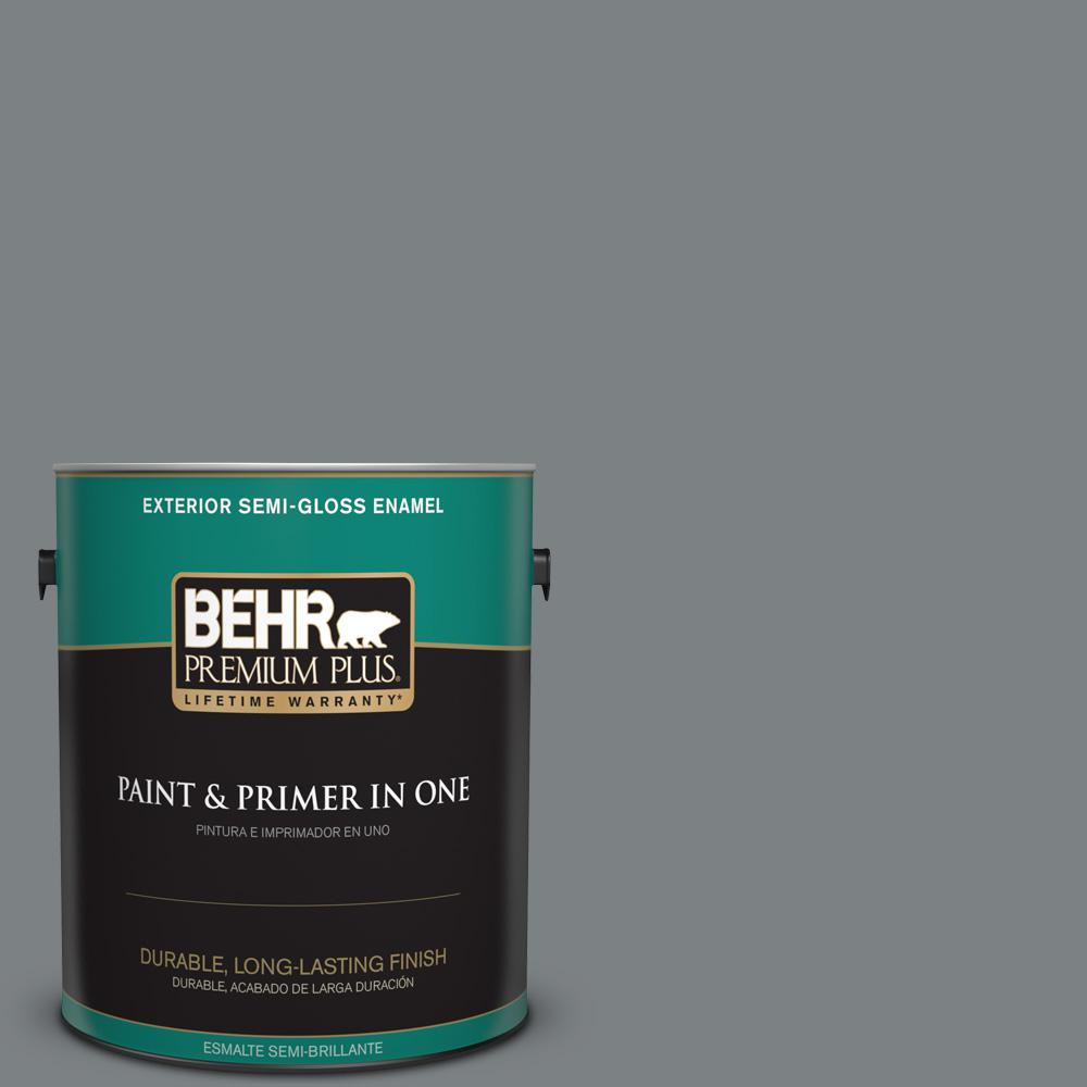 1 gal. #PPU26-03 Legendary Gray Semi-Gloss Enamel Exterior Paint
