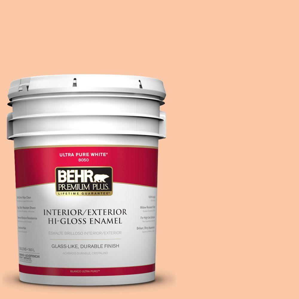 5-gal. #250C-3 Fresco Cream Hi-Gloss Enamel Interior/Exterior Paint