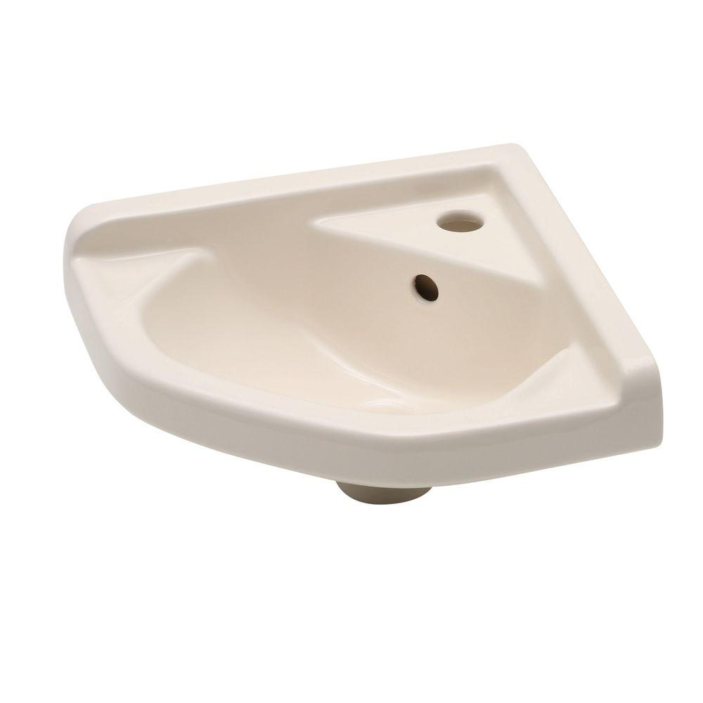 Elizabethan Classics English Turn Corner Wall-Mounted Bathroom Sink in Bisque