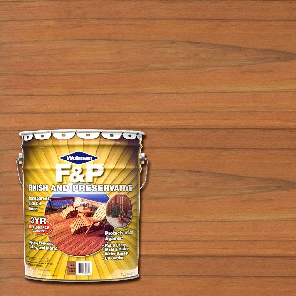F P Redwood Exterior Wood Stain Finish And Preservative
