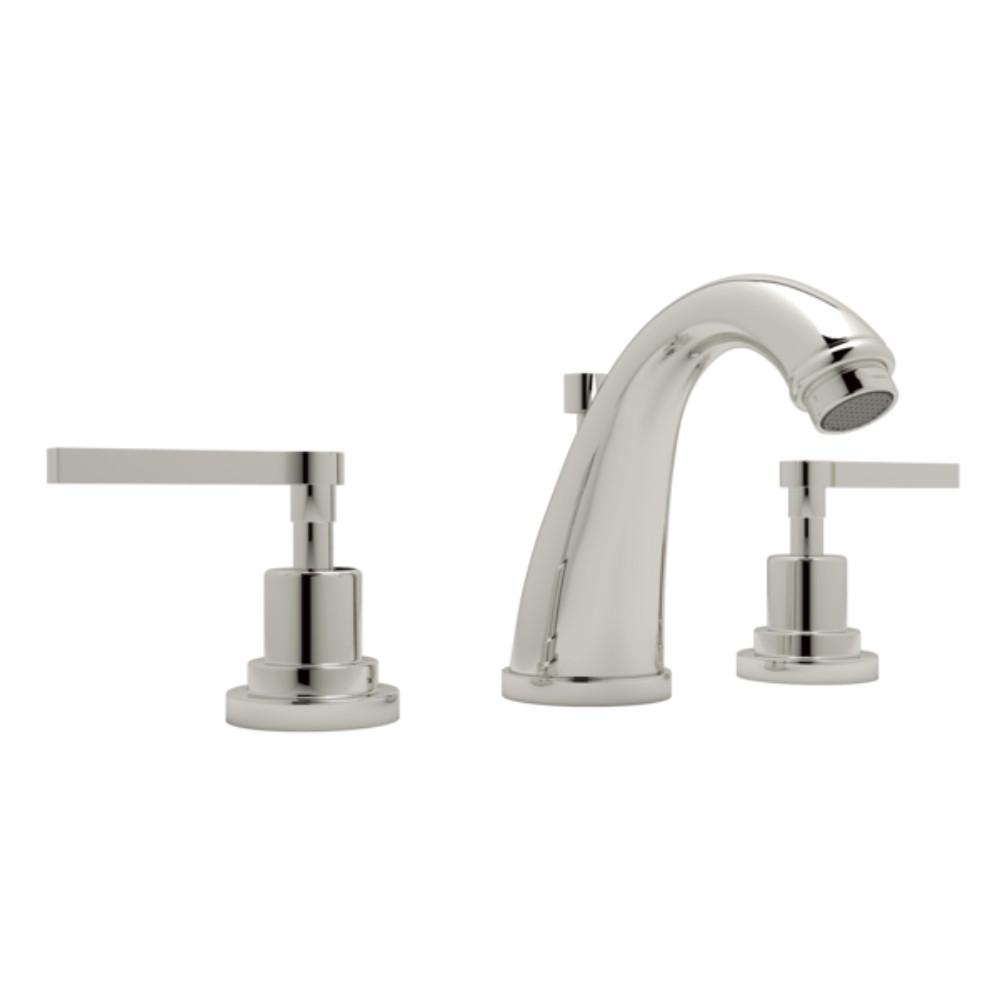 Rohl Avanti 8 In. Widespread 2 Handle Bathroom Faucet In Polished Nickel