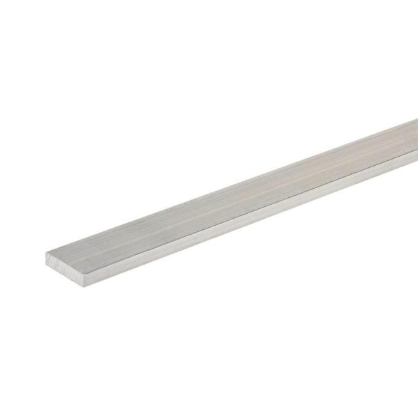 1 in. x 96 in. Aluminum Flat Bar with 1/8 in. T