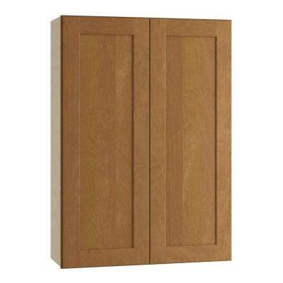 Hargrove Assembled 36x42x12 in. Double Door Wall Kitchen Cabinet in Cinnamon