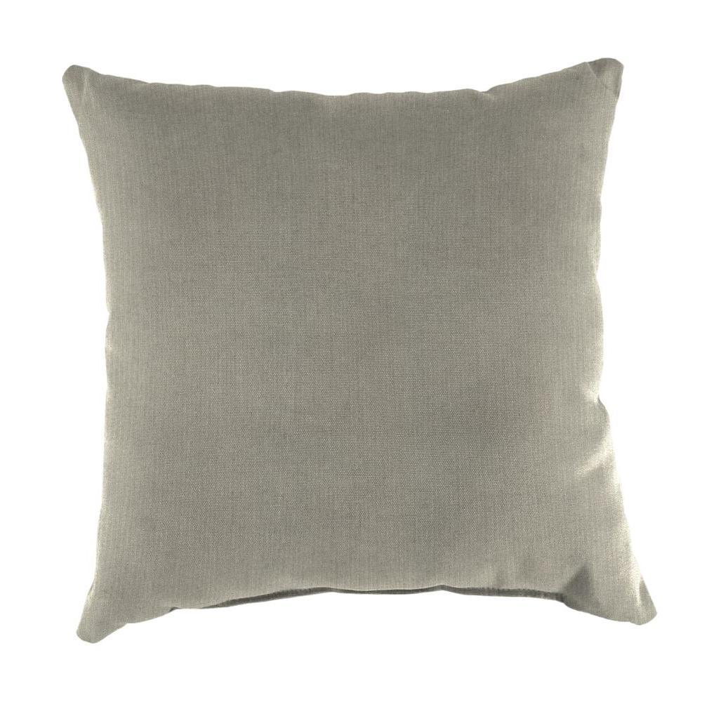 Jordan Sunbrella Spectrum Dove Square Outdoor Throw Pillow