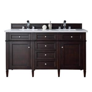 James Martin Signature Vanities Brittany 60 inch W Double Vanity in Burnished Mahogany with Quartz Vanity Top in White... by James Martin Signature Vanities