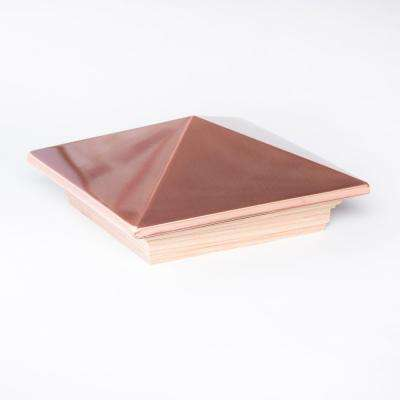 6 in  x 6 in  Redwood and Copper Pyramid Post Cap (6-Pack)