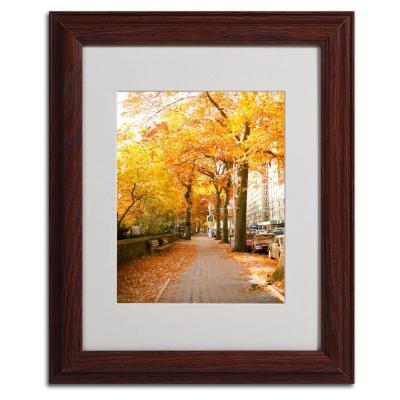 11 in. x 14 in. Fall On The Street Canvas Art
