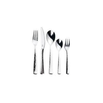 Stern 30-Piece Stainless Steel Hammered Flatware Set