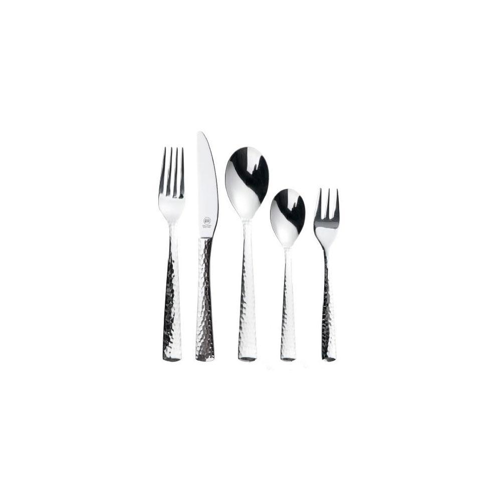 1829 Carl Schmidt Sohn Stern 30-Piece Stainless Steel Hammered Flatware Set