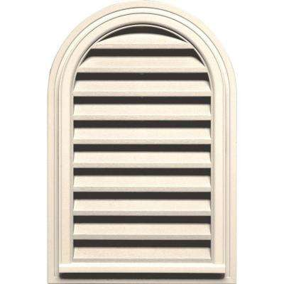 22 in. x 32 in. Round Top Gable Vent in Sandstone Beige
